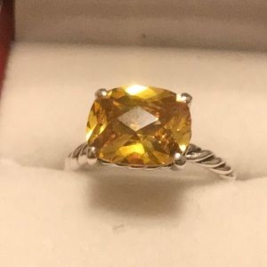 Authentic David Yurman Ring with Citrin Stone